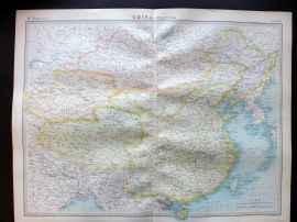 Bartholomew 1922 Large Map. China, Political, Taiwan, etc